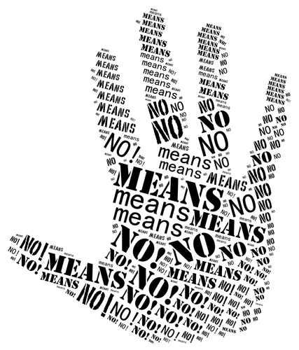 Large hand that says no means no